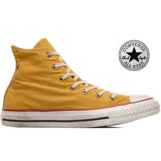 Chaussures Converse All Star Vin... Jaune Moutarde - Achat ...
