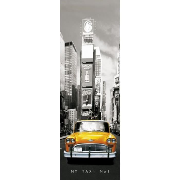 New york poster de porte taxi no 1 yellow ca achat for Decoration porte new york