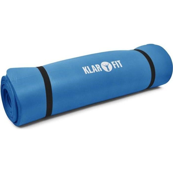 Klarfit Tapis de Gym - Matelas en Mousse Epais 15mm : Sport, Danse, Fitness et Yoga (190 x80) - Bleu