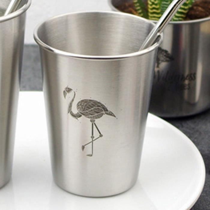 Tasse à eau Tasse en métal Inox Argent 500ml Zebra Cold