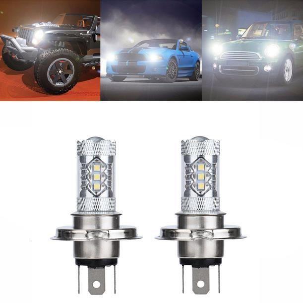 2 X 80W blanc H4 9003 HB2 LED ampoule antibrouillard 1500LM phare de croisement g575