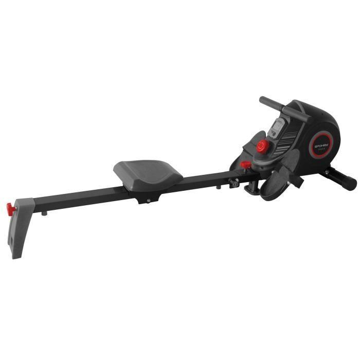 Rameur magnétique - Rameur d'appartement pliable avec console et 10 niveaux de résistances