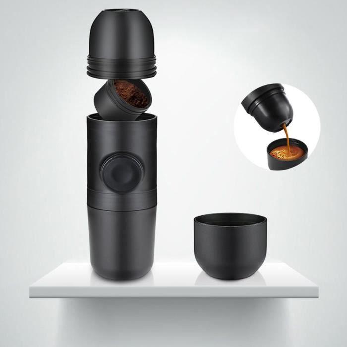140ml Machine a cafe manuelle, Machine à café nespresso noir, Cafetiere portable, cafetiere de voyage, Cafetiere nespresso a capsule