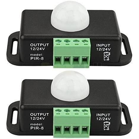 Capteur De Mouvement Binchil 2 x 12 V-24 V 8 A Koerper infrarouge PIR D&eacutetecteur de mouvement Interrupteur LED Barre lumin218