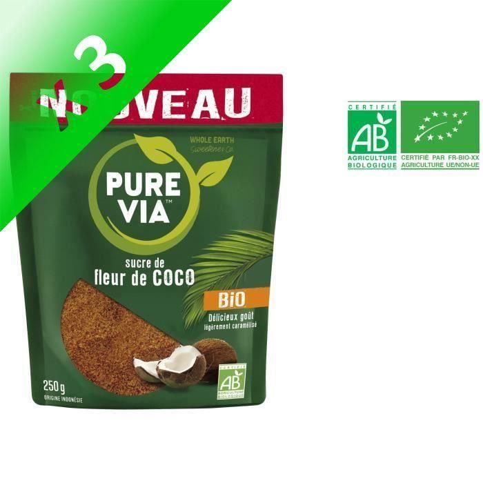 [LOT DE 3] PURE VIA Sucre de fleur de coco bio - 250 g