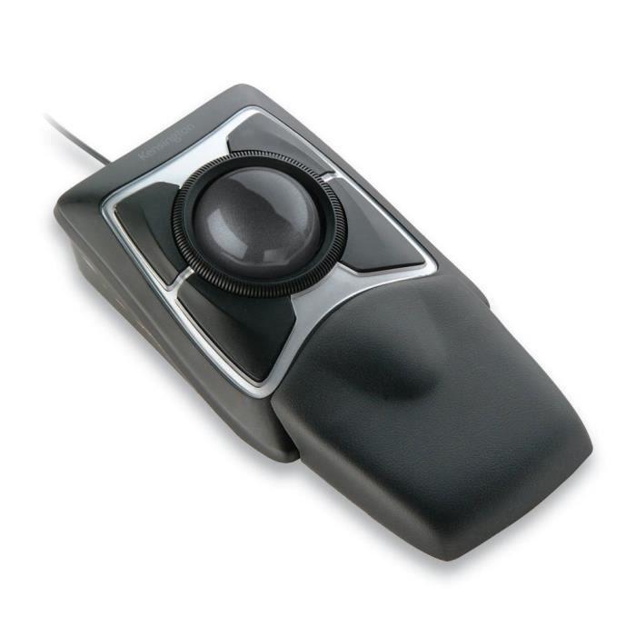 Kensington Expert Mouse - Trackball Filaire Ergonomique avec Suivi Optique et Molette de Défilement Scroll Ring, Compatible avec