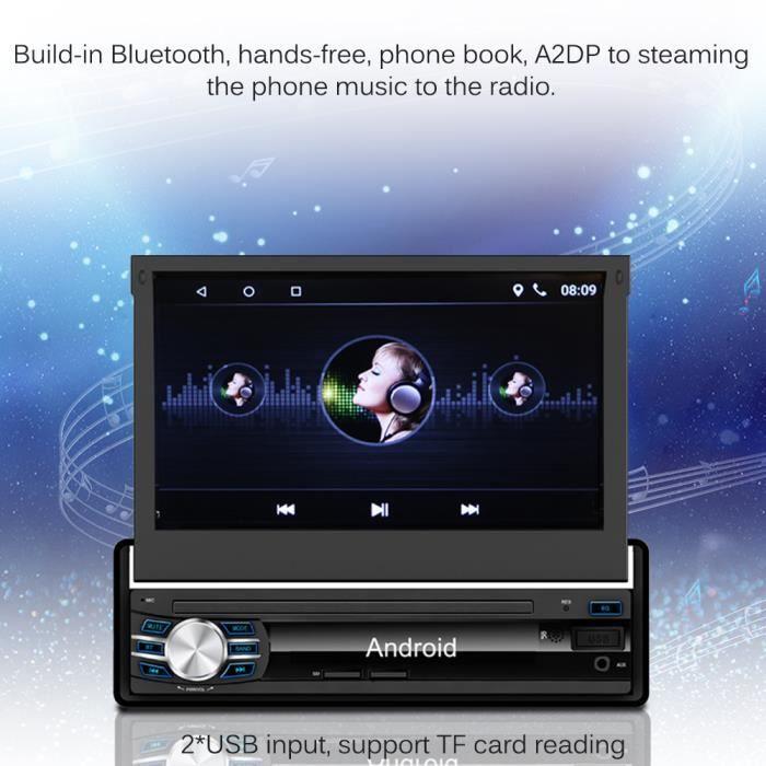 7- Autoradio Voiture Bluetooth Stéréo Inclus Caméra Arrière