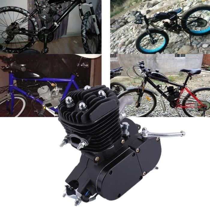 80cc 2 Silencieux de Motocyclette Accessoires Set Pour Moteur de Vélo Motorisé NOIR