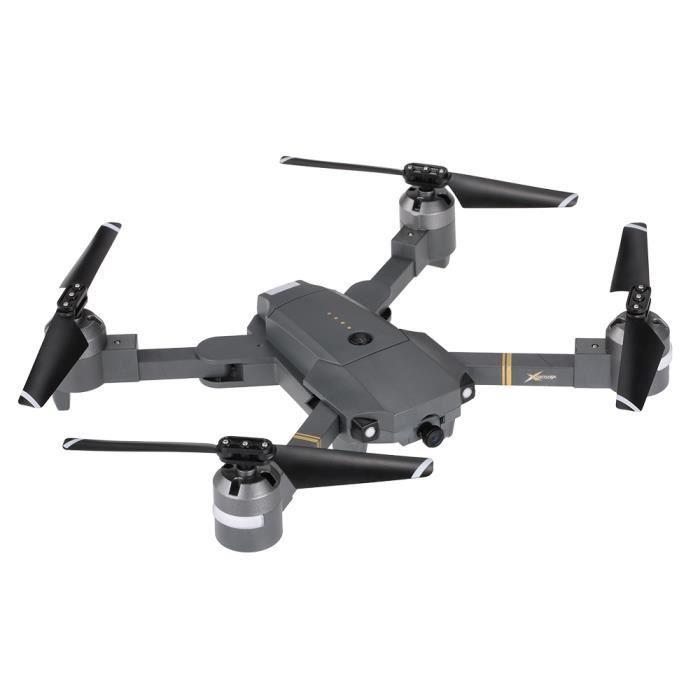 Attop XT-1 WIFI 2.4G RC Quadcopter FPV Drone 6-axes Gyro avec 2.0MP Caméra soutien 3D Flip Hauteur Maintien Pliable Gris