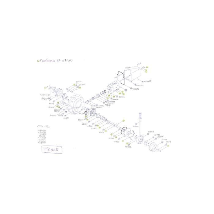 TIGRES- Pièces détachées pour guindeau LOFRANS' Pièce détachée n°631842 - #318A
