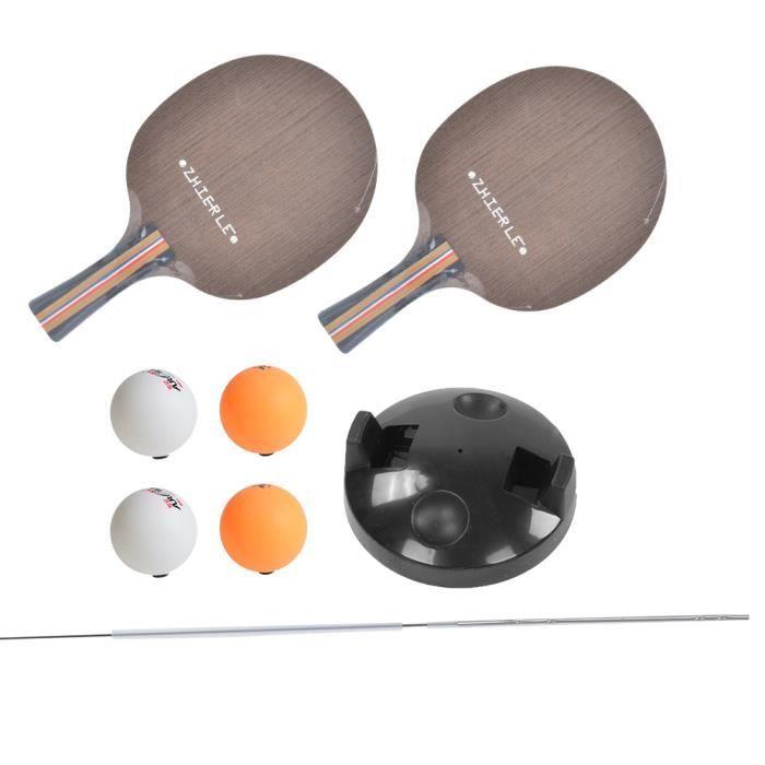 ☀ Kit Arbre Souple Élastique avec Balles de Ping-Pong Raquettes Entraîneur pour Enfant Adulte-☀GOL☀