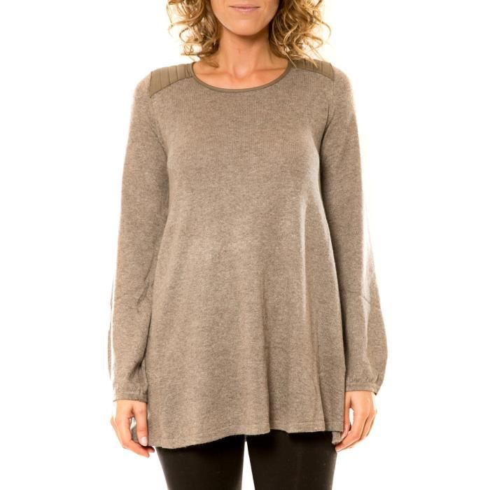 Pull / Gilet Vision de Rêve Pull 12007 Taupe