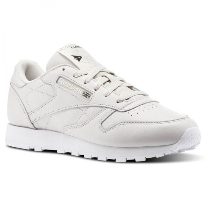 REEBOK Baskets Classic Leather - Femme - Blanc