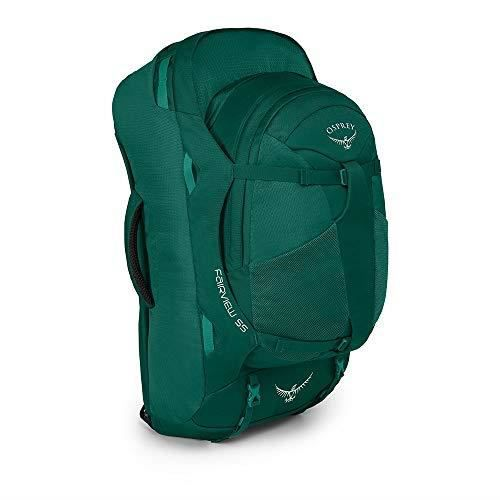 Osprey Fairview 55 Women's Travel Pack with 13L Detachable Daypack - Rainforest Green (WS-WM)