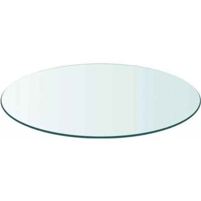 Dessus de table ronde en verre trempé Plateaux de table 400 mm