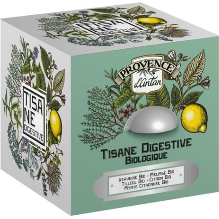 Provence d'Antan Tisane Digestive Bio Boîte Métal 24 sachets