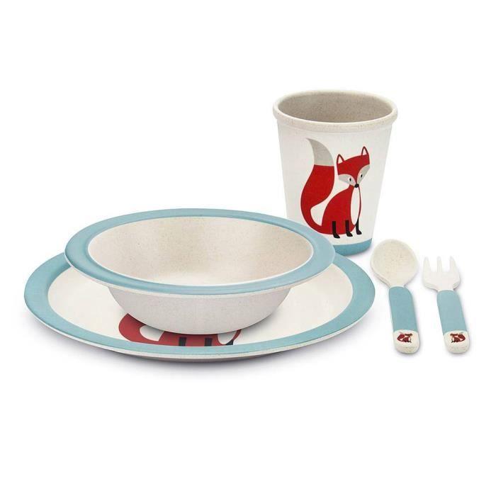 Coffret de Vaisselle pour Enfant - En Bambou - Renard