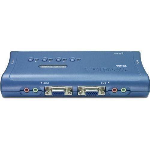 TRENDnet - Switch KVM 4 s PS/2 Audio - TK-408K