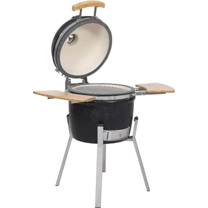 vidaXL Kamado Barbecue au charbon de bois en céramique 76 cm.