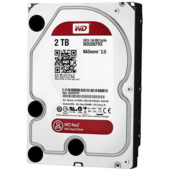 WD WD20EFRX Red Disque dur interne (Bulk) NAS 2 To 3,5 pouces SATA intellipower