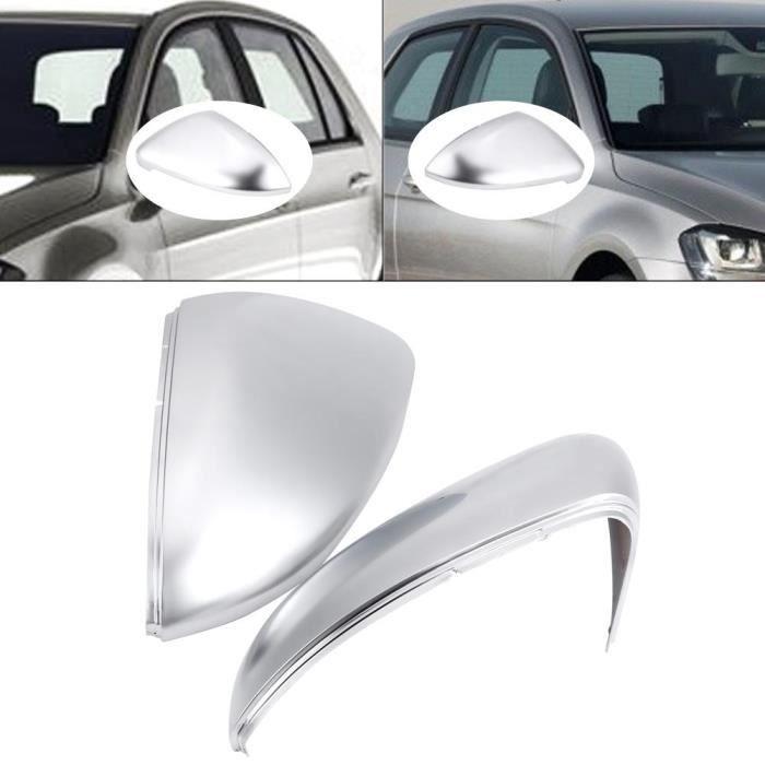 2x Fiat 500 Grande Punto Chrome Aspect Miroir Capuchons Remplacement Tout Neuf
