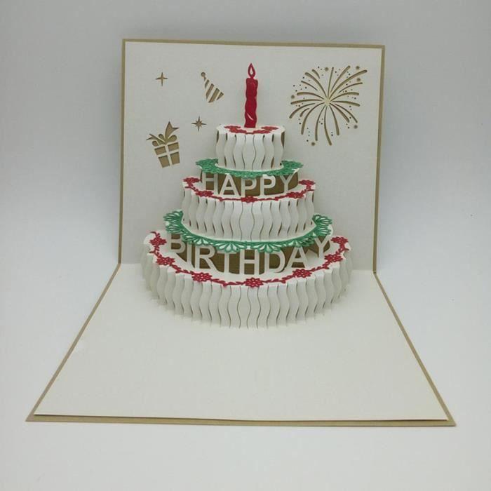 carte anniversaire pop up Cartes 3D Pop Up Valentine amant Joyeux anniversaire anniversaire