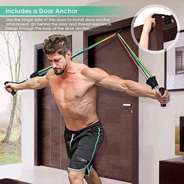 5x Latex tension de courroie élastique Resistance Loop Bands Yoga Exercice Gym Entraînement