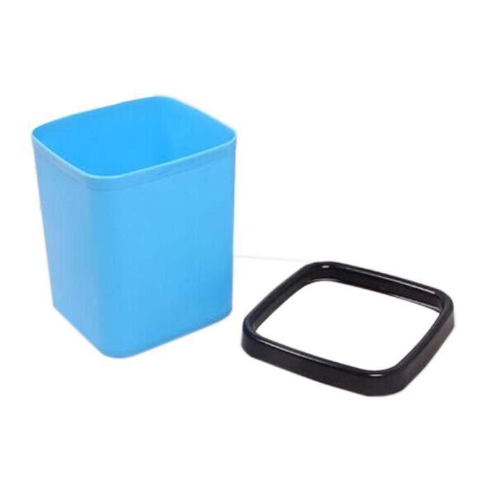 POUBELLE - CORBEILLE créatif mode mini-bureau trash/poubelle, carré ble