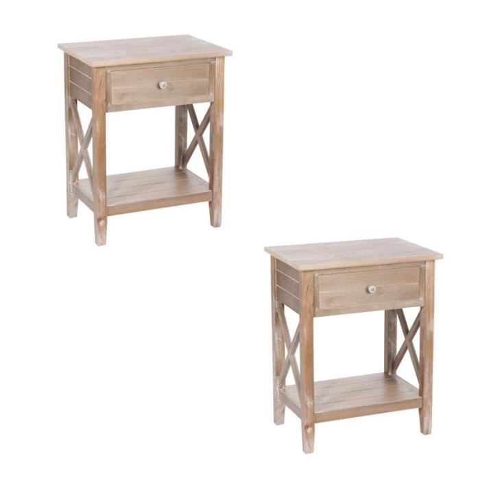 Duo de tables de chevet ferret achat vente chevet for Table de chevet pour mezzanine