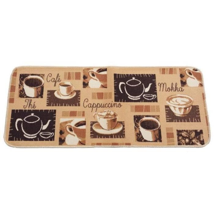 tapis cuisine 50x150cm model capuccino achat vente tapis de cuisine cdiscount. Black Bedroom Furniture Sets. Home Design Ideas