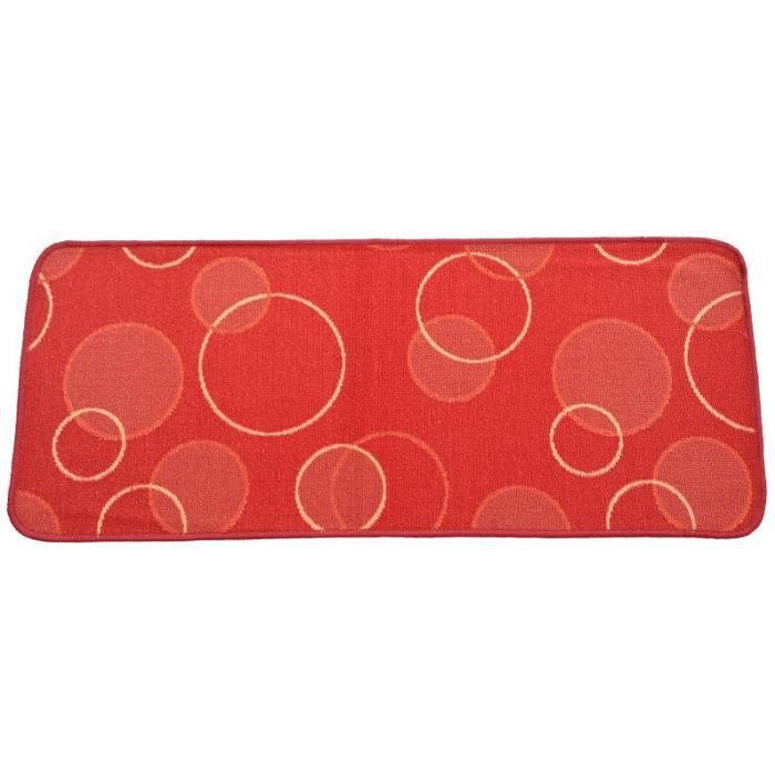 tapis de cuisine 50x150 cm bulle rouge achat vente tapis de cuisine cdiscount. Black Bedroom Furniture Sets. Home Design Ideas
