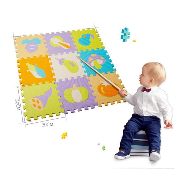 25 pieces puzzle tapis dalle mousse bebe non toxi