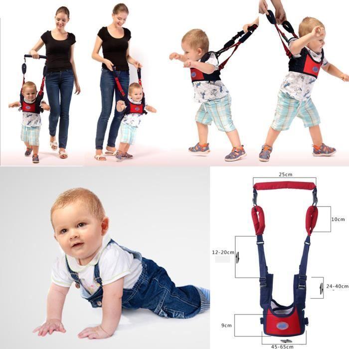 Bébé enfant Harnais de sécurité pour apprendre à marcher adjoint Walking rênes bleu