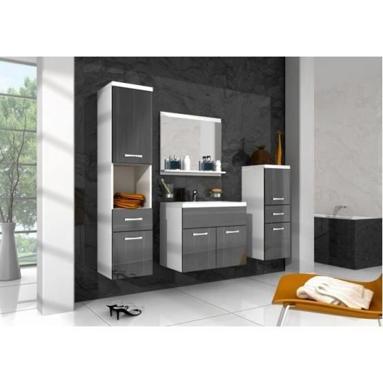 ensemble salle de bain baio noir et blanc achat vente salle de bain complete ensemble sdb. Black Bedroom Furniture Sets. Home Design Ideas