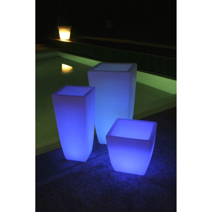 pot lumineux boreal 7 couleurs led h 45cm achat vente pot lumineux led 7 couleurs r sine. Black Bedroom Furniture Sets. Home Design Ideas