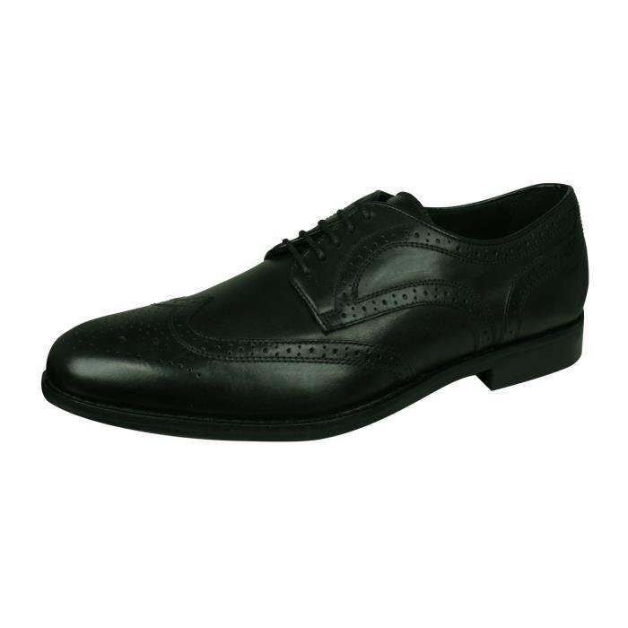 Geox U Hampstead D Hommes cuir Chaussures Mocassins Noir 6