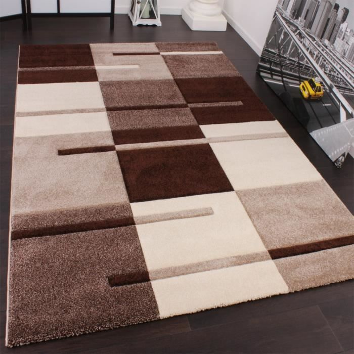 tapis beige marron 120x170 cm achat vente tapis soldes d s le 10 janvier cdiscount. Black Bedroom Furniture Sets. Home Design Ideas