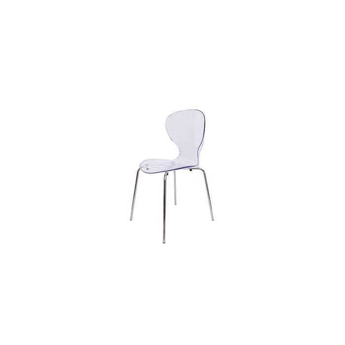 Chaise poppy transparente lot de 4 achat vente chaise cdiscount - Chaise transparente discount ...