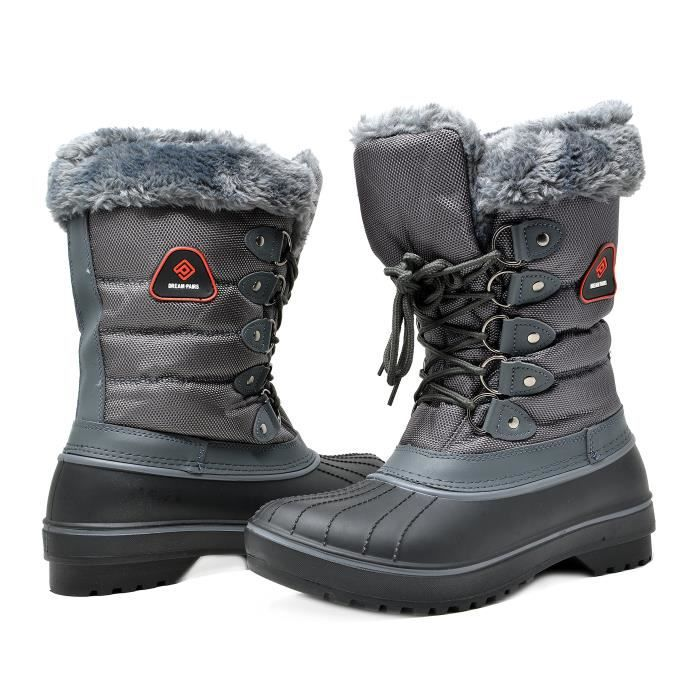 Dp-canada Faux Fur Lined Mid Calf Winter Snow Boots M03OA Taille-41