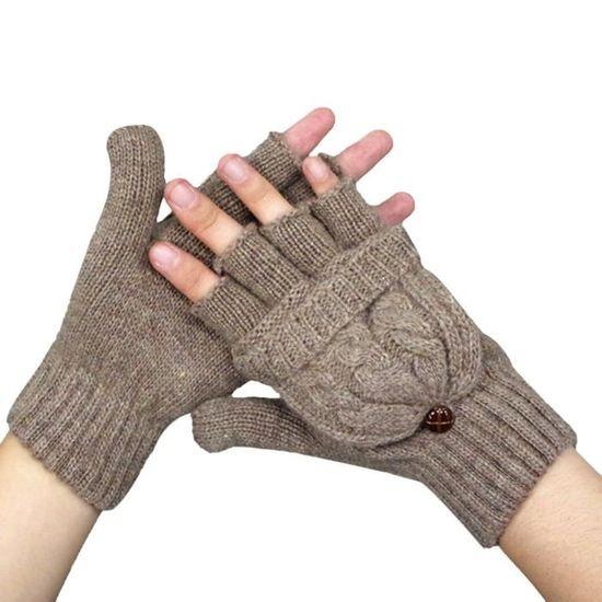 Cinnamou Mode Femmes Winter Manchettes De Poignet Manches Longues Mitaines Sans Doigts Gant
