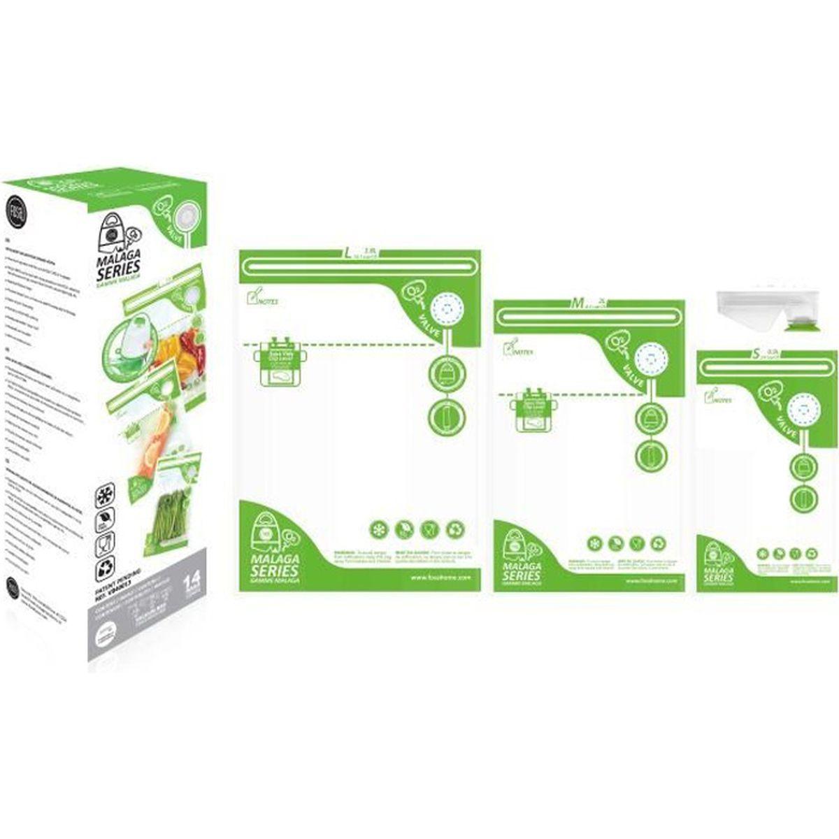 3PCS Sachets Rouleaux Sous Vide Conservation Aliments Pour Cuisine 3 rouleaux 15*5+20*5+28*5