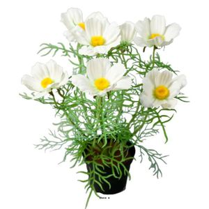 """Eryngium Chardon /""""Crème/"""" 67 cm Lot de 6 tiges de fleurs de soie artificielle"""