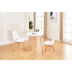 TABLE DE CUISINE  JKK Table à Manger Ronde Moderne de 2 à 4 personne