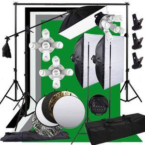 SOFTBOXS - PARAPLUIE Studio 3375W Kit d'arrière-plan de boîte à lumière