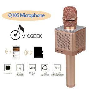 HAUT-PARLEUR - MICRO MicGeek Q10S Microphone sans fil Bluetooth Karaoké