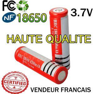 BATTERIE INFORMATIQUE 1 Pile Accu 18650 3.7V Rechargeable Batterie Bater