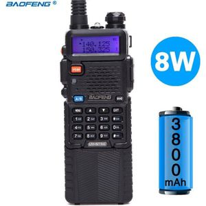 TALKIE-WALKIE Baofeng UV-5R 8 W Haute Puissance Version 10 km Lo