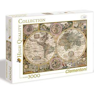 PUZZLE PUZZLE 3000 pièces - Carte ancienne - 188 X 84 cm