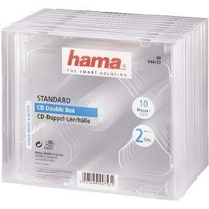 RANGEMENT CD-DVD HAMA 00044753 Boîtier CD standard double - Lot de