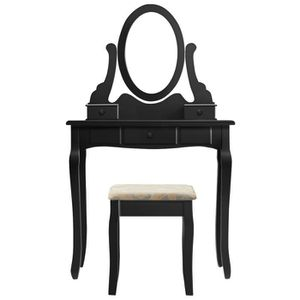 COIFFEUSE Coiffeuse Style Elegant - Tabouret De Maquillage O